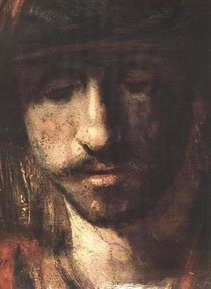 Rembrandt - David and Uriah (detail -1) 1665