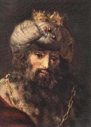 Rembrandt - David and Uriah (detail -2) 1665