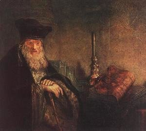 Rembrandt - Old Rabbi (detail) 1642