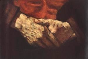 Portrait of an Old Man in Red (detail -2) 1652-54