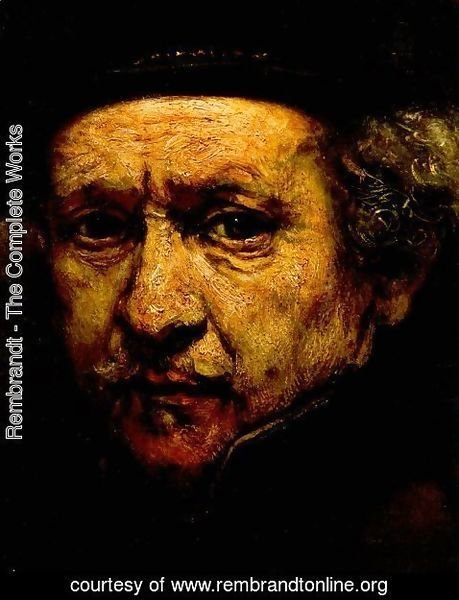 Rembrandt - Self-Portrait (detail) 1659