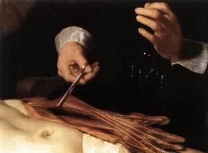 Rembrandt - The Anatomy Lecture of Dr. Nicolaes Tulp (detail) 1632