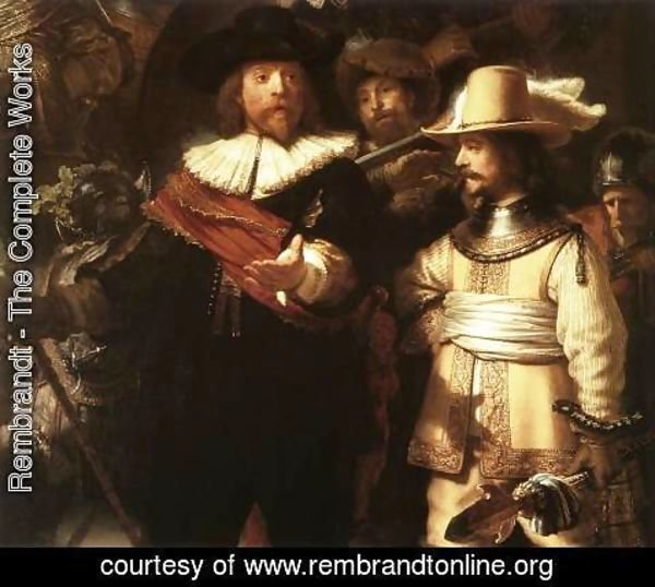 Rembrandt - The Nightwatch (detail-1) 1642