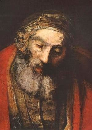 Rembrandt - The Return of the Prodigal Son (detail -2) c. 1669