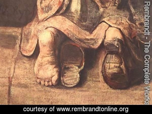 Rembrandt - The Return of the Prodigal Son (detail -4) c. 1669
