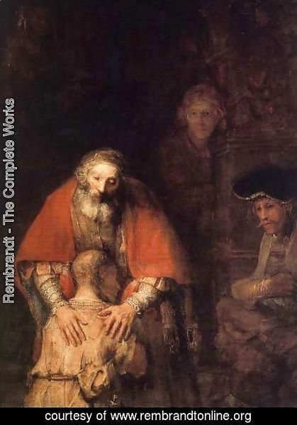 Rembrandt - The Return of the Prodigal Son (detail -5) c. 1669