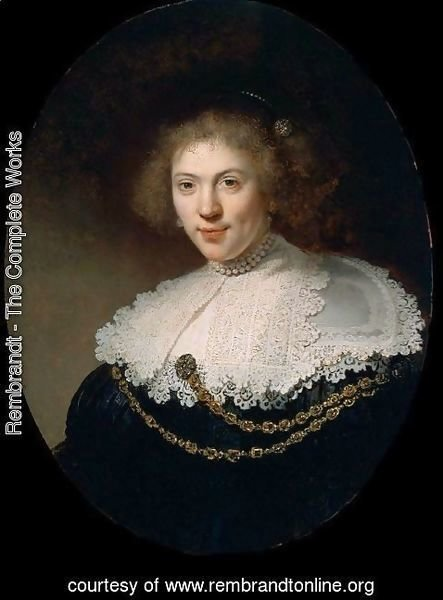 Rembrandt - Woman Wearing a Gold Chain  1634
