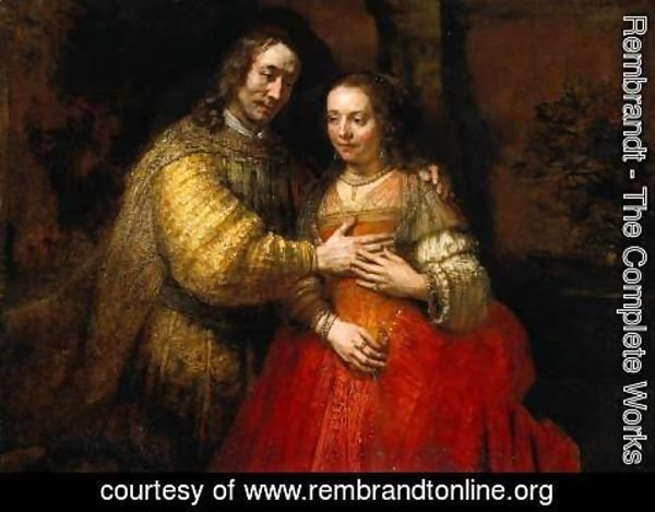 Rembrandt - Portrait of Two Figures from the Old Testament, known as 'The Jewish Bride'