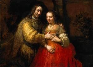 Portrait of Two Figures from the Old Testament, known as 'The Jewish Bride'