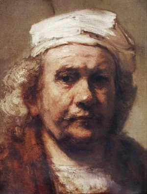 Rembrandt - Self-Portrait [detail #1]