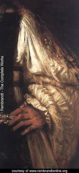 Rembrandt - Aristotle with a Bust of Homer [detail: 1]