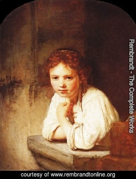 Rembrandt - A Girl at a Window