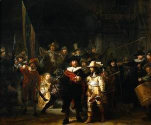 Rembrandt - The Company of Frans Banning Cocq and Willem van Ruytenburch, known as the 'Night Watch'