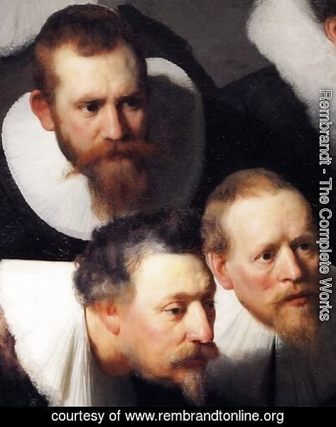 Rembrandt - The Anatomy Lecture of Dr Tulp [detail #1]