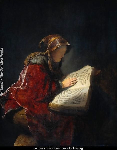 The Prophetess Anna (known as 'Rembrandt's Mother')