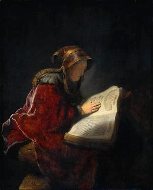 Rembrandt - The Prophetess Anna (known as 'Rembrandt's Mother')