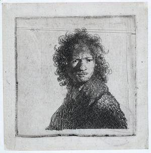 Rembrandt - Self Portrait, Frowning