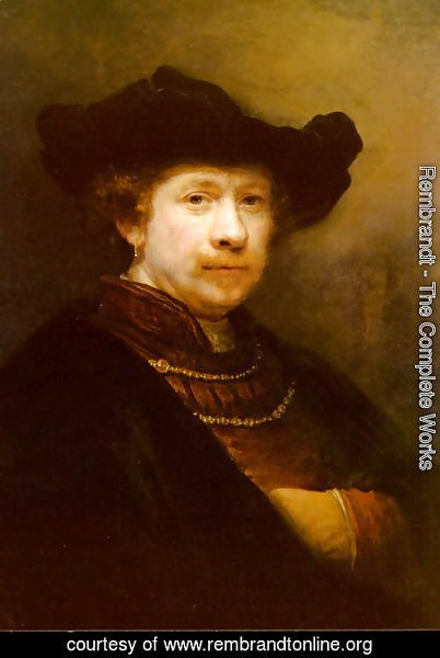 Rembrandt - Portrait Of The Artist In A Flat Cap