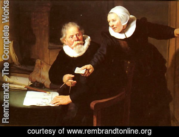 Rembrandt - Jan Rijcksen and his Wife, Griet Jans ('The Shipbuilder and his Wife')