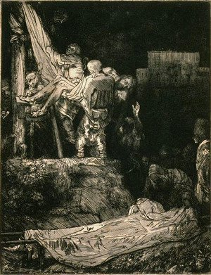 Rembrandt - Descent from the Cross by Torch Light