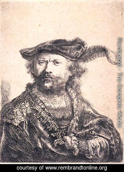 Rembrandt in Velvet Cap and Plume