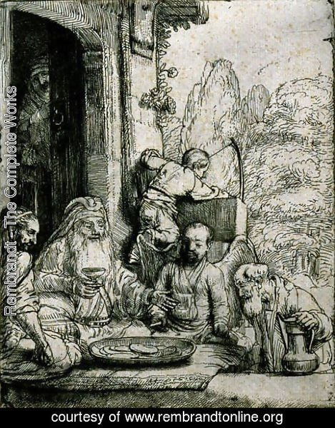 Rembrandt - Abraham Entertaining the Angels
