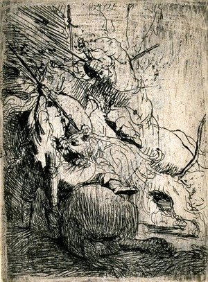 Rembrandt - The Small Lion Hunt
