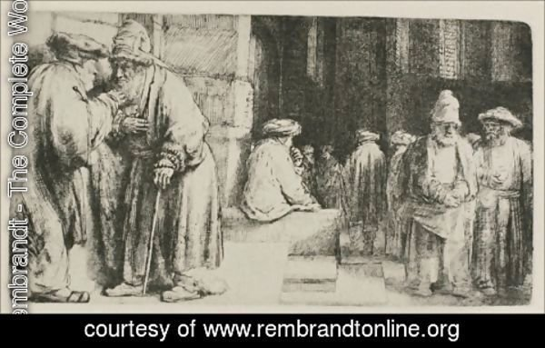Rembrandt - Jews in the Synagogue