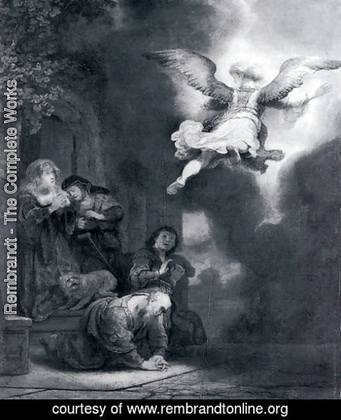 Rembrandt - The Angel Leaving Tobias And His Family