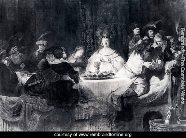 Samson Posing The Riddle At His Wedding Feast