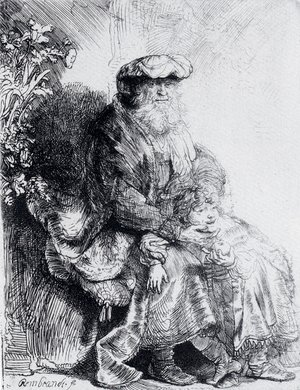 Rembrandt - Jacob Caressing Benjamin