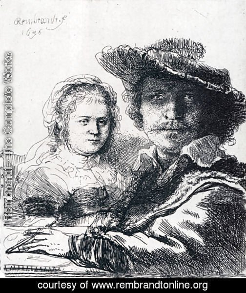 Rembrandt - Self-portrait With Saskia