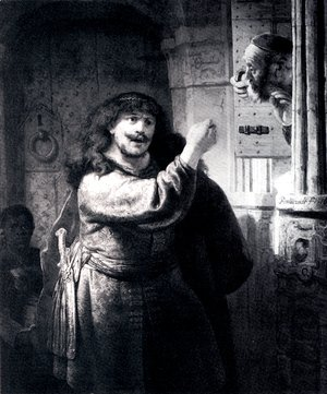 Rembrandt - Samson Threatening His Father-in-Law