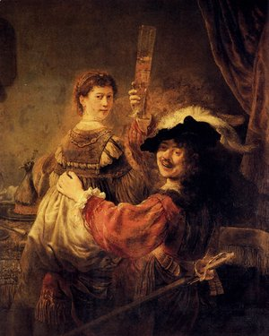 Rembrandt - Self-portrait With Saskia (or The Prodigal Son With A Whore)