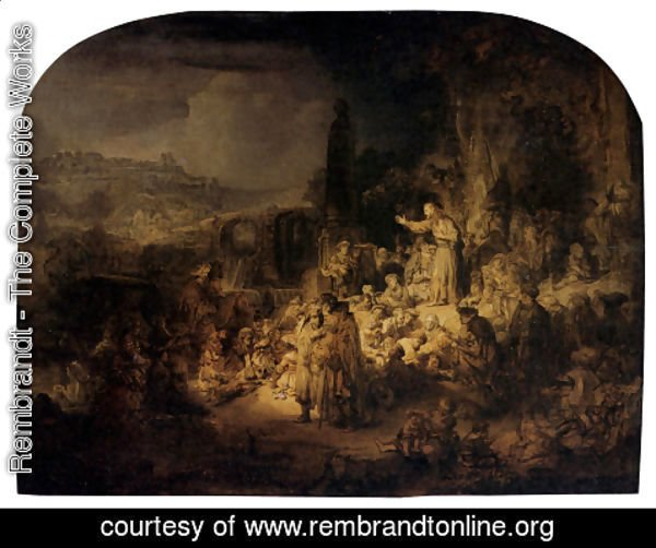 Rembrandt - St. John The Baptist Preaching