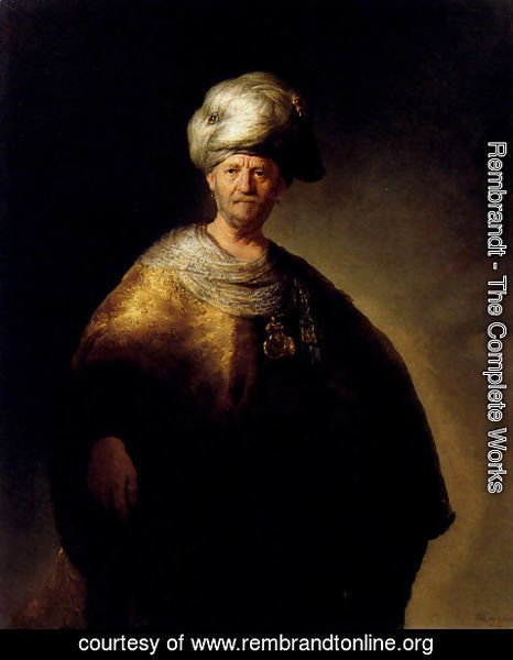 Rembrandt - Man In Oriental Dress