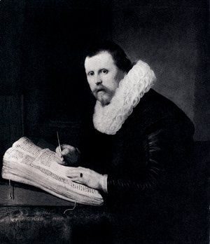 Rembrandt - Young Man At His Desk