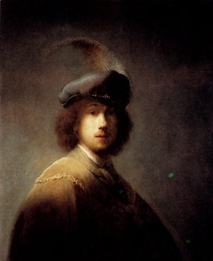 Rembrandt - Self-portrait In A Plumed Hat