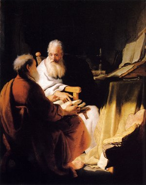 Rembrandt - Two Old Men Disputing