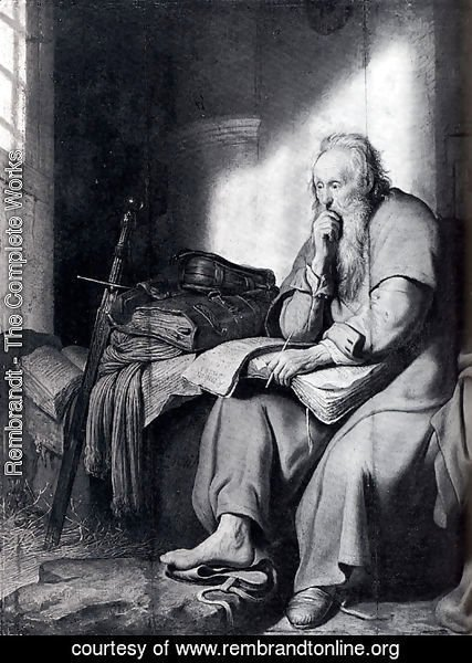 Rembrandt - St. Paul In Prison
