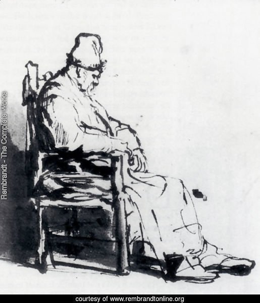 Seated Old Man (possibly Rembrandt's father)