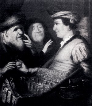 Rembrandt - The Sense Of Sight (or The Spectacles-Seller)