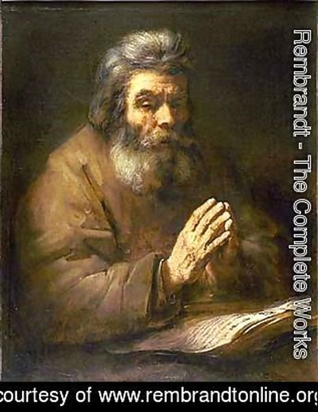 Rembrandt - Old Man Praying