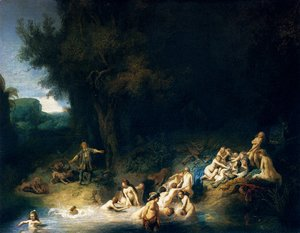 Rembrandt - Diana Bathing, with the Stories of Actaeon and Callisto