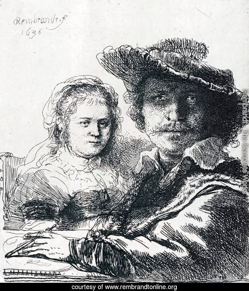 Self-portrait With Saskia, 1636