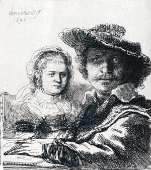 Rembrandt - Self-portrait With Saskia, 1636