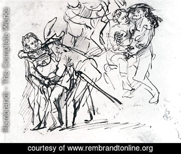 Rembrandt - Sketche Of The Prodigal Son With A Whore