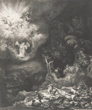 Rembrandt - The Angel Appearing To The Shepherds
