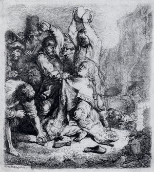 Rembrandt - The Stoning Of St. Stephen 2