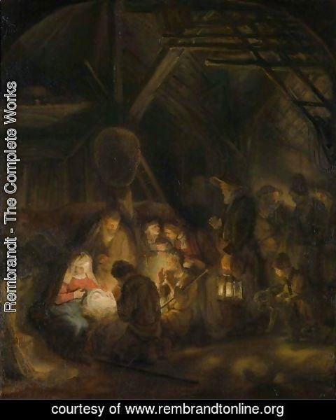 Rembrandt - Adoration of the Shepherds 1